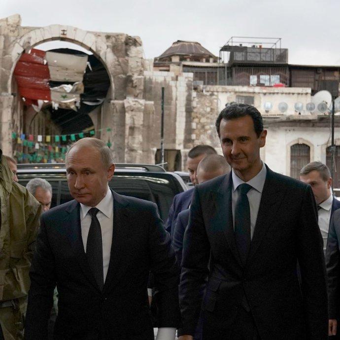 Bašár Asad sVladimirem Putinem vDamašku. Foto:Facebook úřadu prezidenta, SyrianPresidency