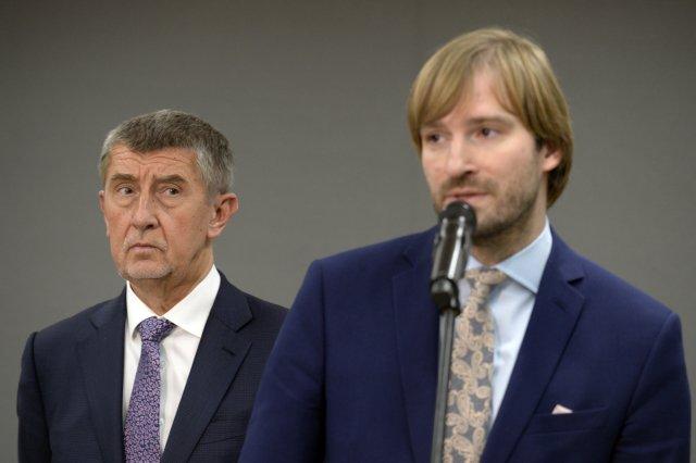 Andrej Babiš aAdam Vojtěch. Foto:ČTK