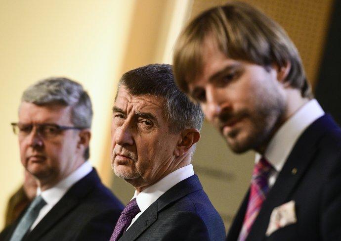 Trestní oznámení míří na premiéra Andreje Babiše aAdama Vojtěcha. Foto:ČTK