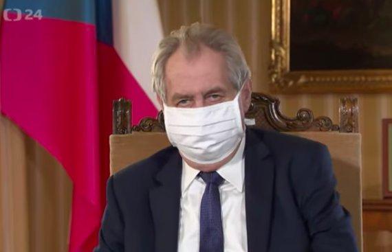 Miloš Zeman během velikonočního poselství uprostřed koronavirové krize. Foto: ČT24