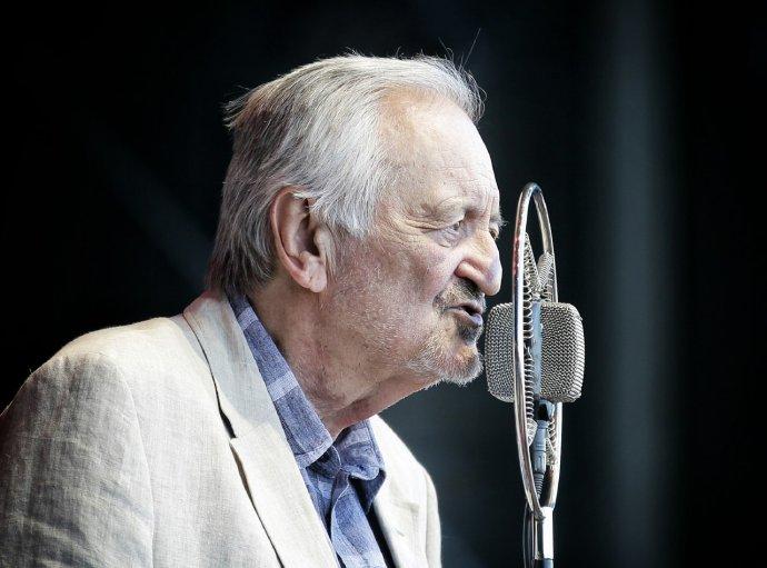 Slovenský herec aspisovatel Milan Lasica. Foto:Tomáš Benedikovič, DenníkN