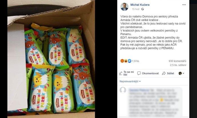Příspěvek radního Michala Kučery nasbíral dva a půl tisíce sdílení a téměř tisíc komentářů. Foto: FB profil Michala Kučery