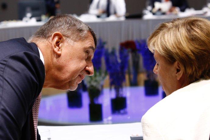 Andrej Babiš aAngela Merkelová na summitu EU vříjnu 2018. Foto:EU