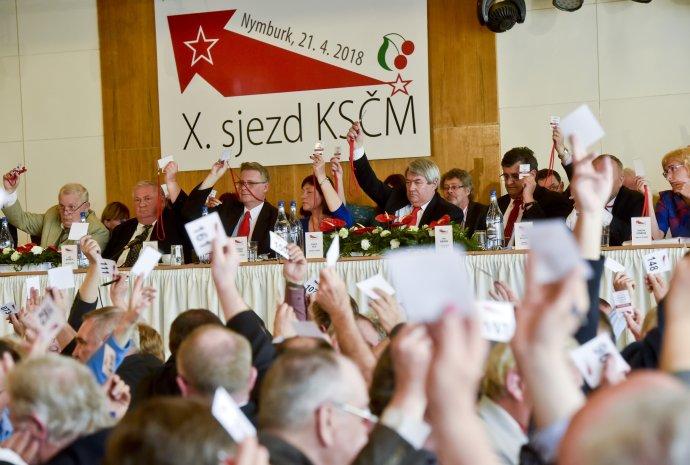 Vojtěch Filip byl naposledy zvolen předsedou KSČM před dvěma lety. Foto:Vít Šimánek, ČTK