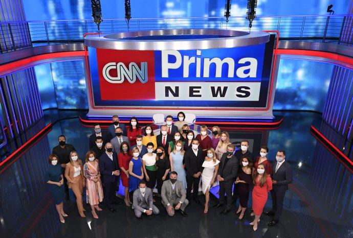 Původní tým stanice CNN Prima News. Foto:CNN Prima News