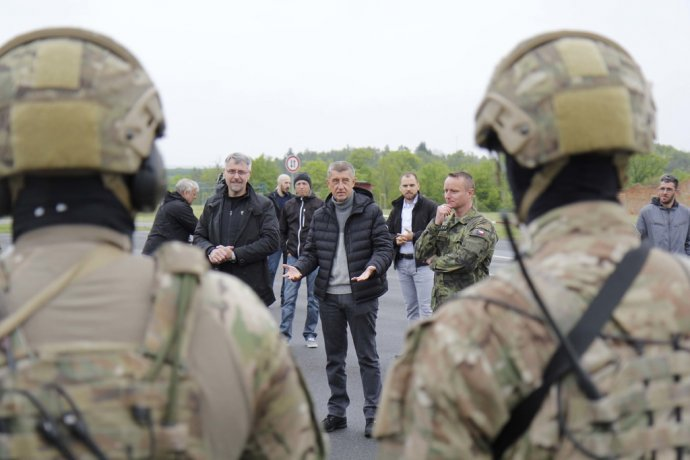 Premiér Andrej Babiš na návštěvě 601. skupiny speciálních sil. Foto: Ministerstvo obrany