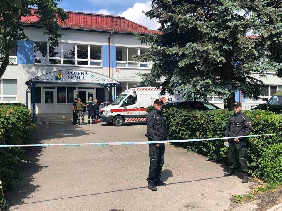 Útok na slovenské škole. Foto: Slovenská policie
