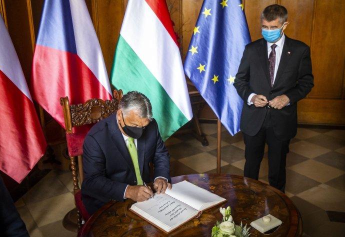 Nový zákon Orbánovy vlády premiér Andrej Babiš kritizovat nechce, europoslanci za ANO se ale přidali na stranu kritiků. Ilustrační foto:Gabriel Kuchta, DeníkN