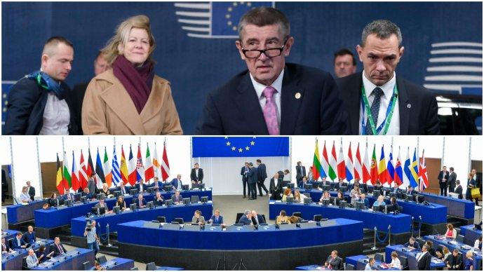 Andrej Babiš před jednáním Evropské rady aplenárním zasedání Evropského parlamentu. Foto:EU