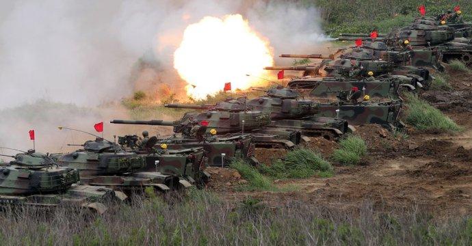 Tchajwanské tanky při cvičných střelbách. Foto:Ministerstvo národní obrany Tchaj-wanu