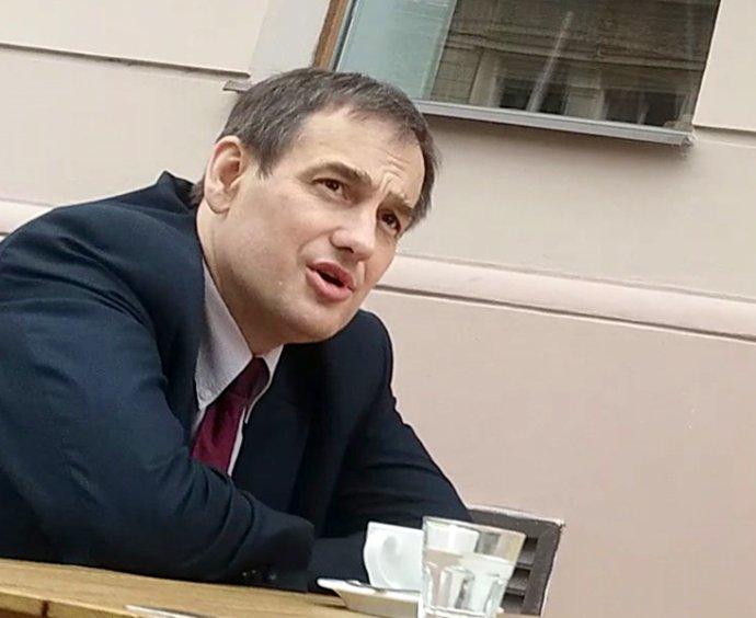 Igor Rybakov, pracovník Ruského střediska vědy akultury vPraze, který napsal anonym na svého kolegu Končakova. Foto:Ludvík Hradílek, DeníkN