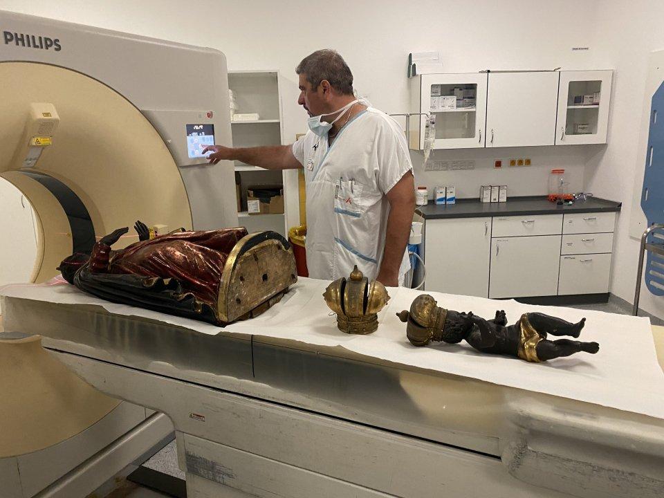 CT sochy Černé Madony. Foto: Fakultní nemocnice u sv. Anny v Brně