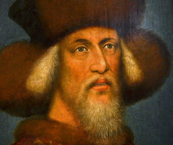 Zikmund Lucemburský. Dobový portrét. Kunsthistorisches Museum, Vídeň