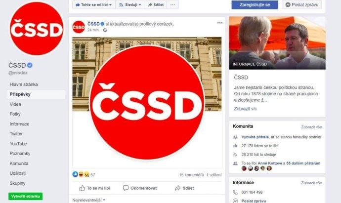 Nové logo sociální demokracie. Foto:reprofoto Facebook ČSSD