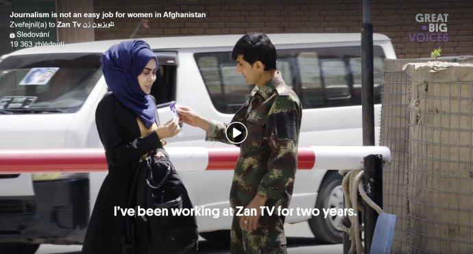 Rašida je jednou zreportérek televizního kanálu Zan Tv, jediné ženské televize vhistorii Afghánistánu. Zdroj: Zan TV