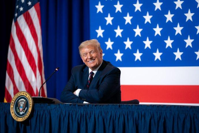 Americký prezident Donald Trump se prohlásil za vítěze. Foto:Tia Dufour, White House