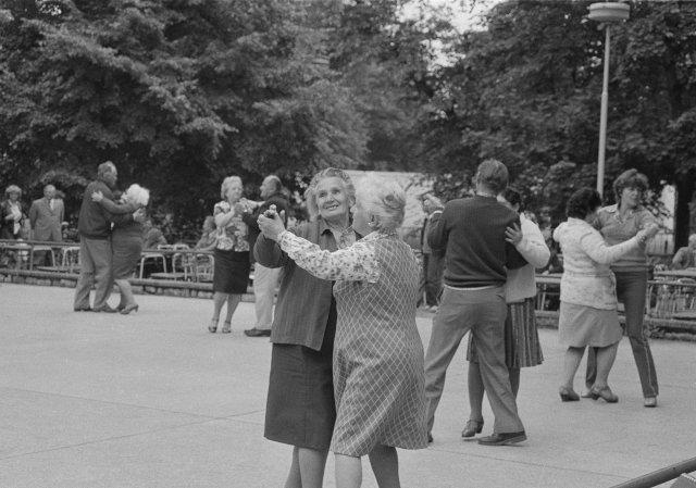 Park kultury aoddechu Julia Fučíka vpražských Holešovicích. Červenec 1985. Foto:ČTK/AP