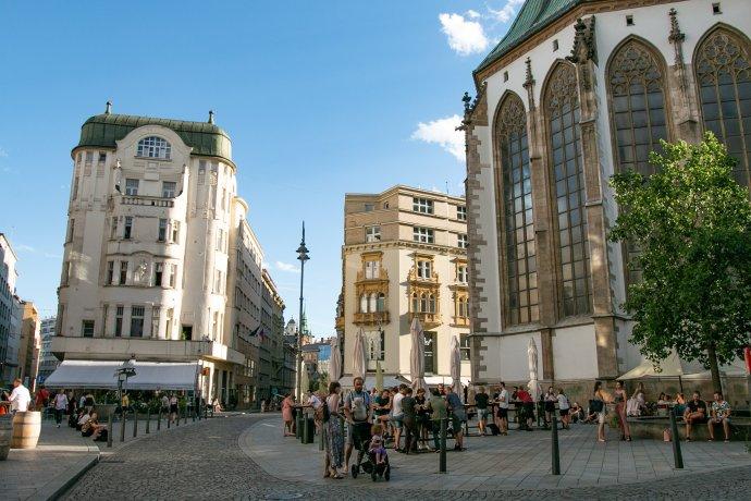 Jihomoravskému kraji pomáhá ito, že se zde nachází Brno, druhé největší město vrepublice. Pociťuje to na svém HDP, ale ina množství vysokoškoláků vkraji. Foto:Karolína Poláčková, DeníkN