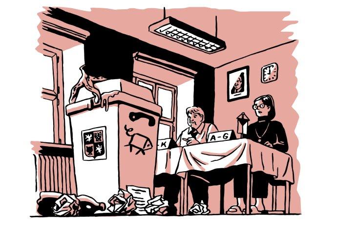 Spokojenost sfungováním demokracie dosáhla dna. Ilustrace: Petr Polák