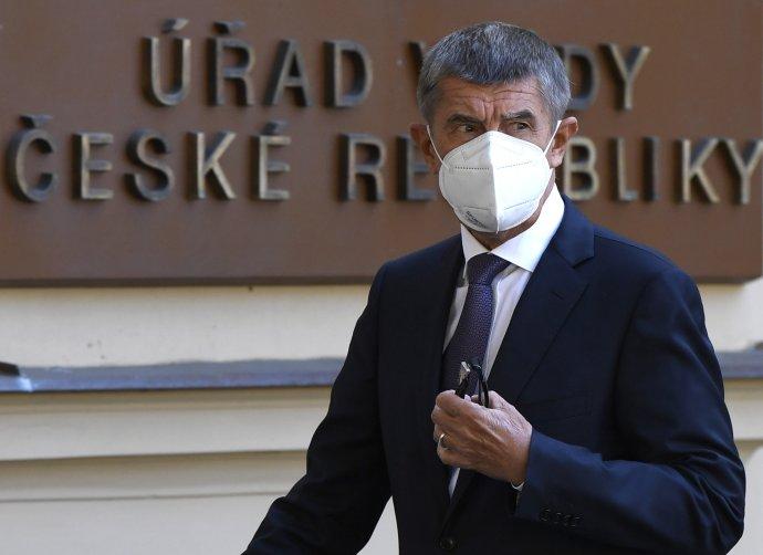 Premiér Andrej Babiš po jednání na Úřadu vlády. Foto:ČTK