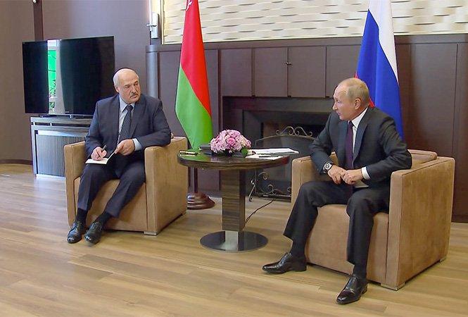 Setkání Lukašenko– Putin vrezidenci ruského prezidenta vSoči. Foto:president.gov.by