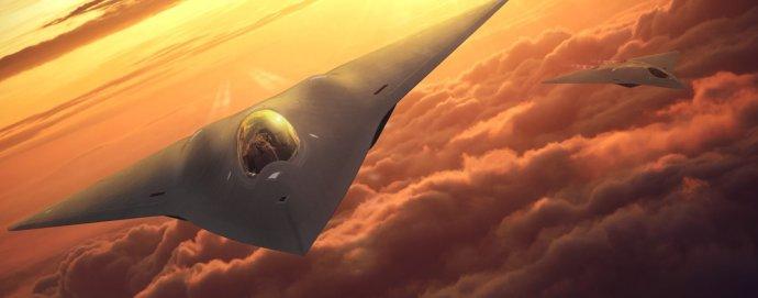 Vizualizace možné podoby nového stíhacího letounu 6. generace. Zdroj: Lockheed Martin