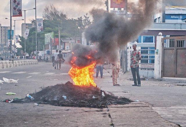 Protest v nigerijském Lagosu, snímek je z 24. října. Foto: ČTK/Anadolu Agency