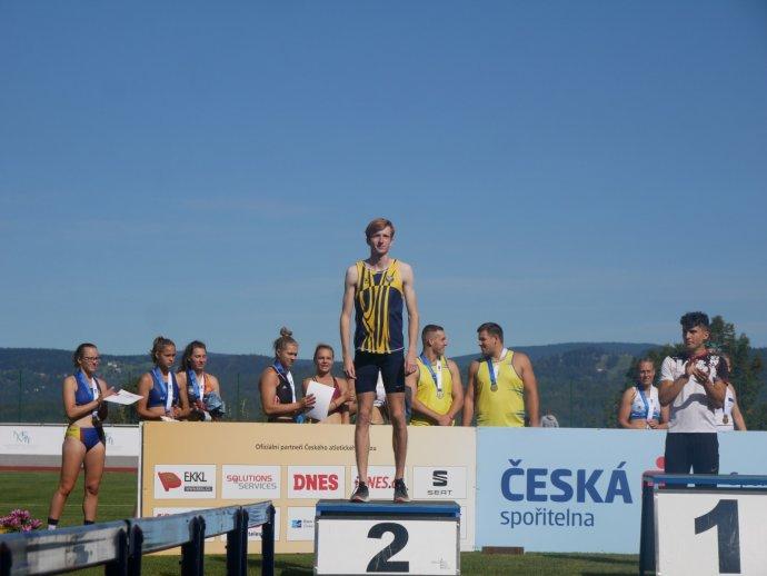 Ladislav Töpfer skončil tři roky po sobě druhý na mistrovství republiky do 22let. Foto:archiv Ladislava Töpfera