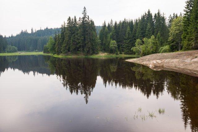 Vodní plocha akolem lesy, jež jsou ideálním prostorem pro odpařování vody. Foto:ČTK