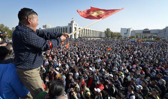 Hvězdná dráha nového prezidenta Kyrgyzstánu začala podzimní revolucí. Foto:ČTK/AP