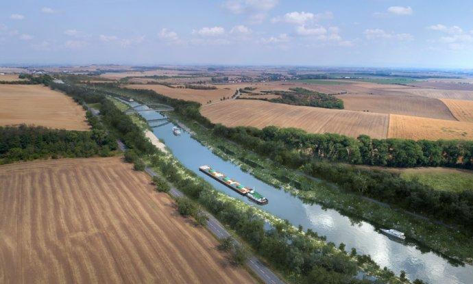 Kanál Dunaj-Odra-Labe by měl podle svých zastánců pomoci skomírající české vodní dopravě. ZDROJ: Ministerstvo dopravy
