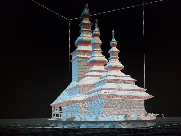 3D model je přesnou kopií originálu, který může sloužit jako další podklad při obnově kostela sv. Michaela. Foto: Jeffrey Martin