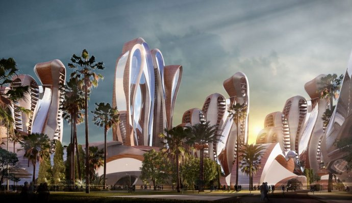 Futuristický projekt Akon City. Foto:akoncity.com