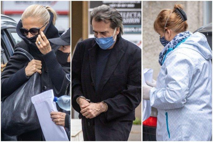 Nedávno zatčení slovenští soudci Katarína Bartalská, Richard Molnár aJarmila Urbancová. Foto:Tomáš Benedikovič, DenníkN