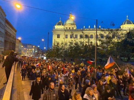 Demonstrace na Václavském náměstí. Foto:Jakub Zelenka, DeníkN