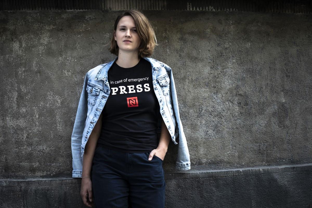 """Dámské tričko """"PRESS N"""" (velikost S)"""