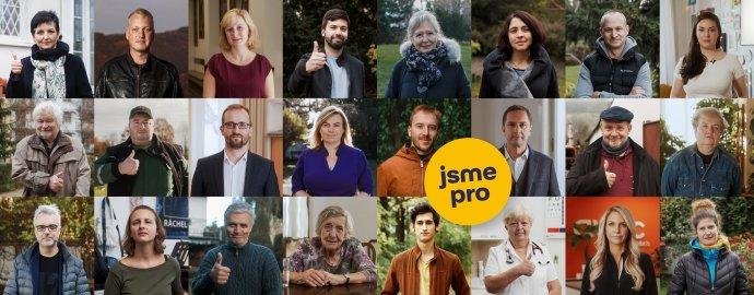 Podporovatelé a členové Minářova politického hnutí. Foto: LidéPro