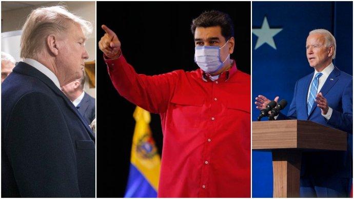 Koláž DeníkuN: Foto:White House, twitterový účet Nicoláse Madura avolební štáb Joea Bidena