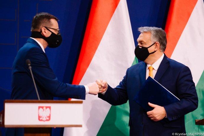 Polský premiér Mateusz Morawiecki ajeho maďarský protějšek Viktor Orbán. Foto:Krystian Maj, polský úřad vlády