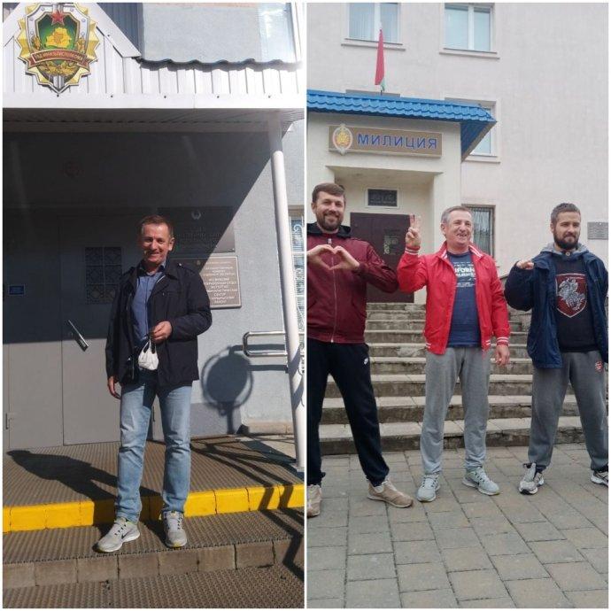 Vlevo je horník a odborový předák Siarhei Charkasau po 15 dnech vězení. Vpravo po 30 dnech žaláře. Zdá se, že cíle ti, kdo se ho snažili srazit na kolena, nedosáhli. Foto: soukromý archiv Siarheie Charkasaua