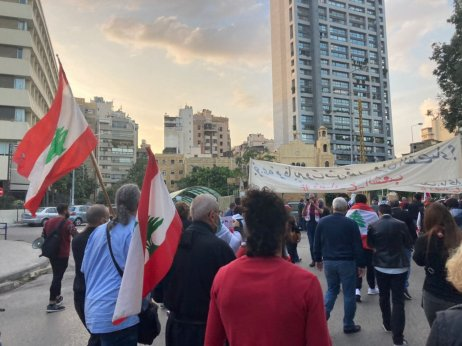 Protivládní demonstrace v Bejrútu. Foto: Anna Janská, Deník N