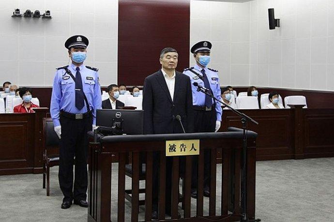 Odsouzený Chu Chuaj-pang u soudu. Foto: Čchengteský lidový soud, Caixin