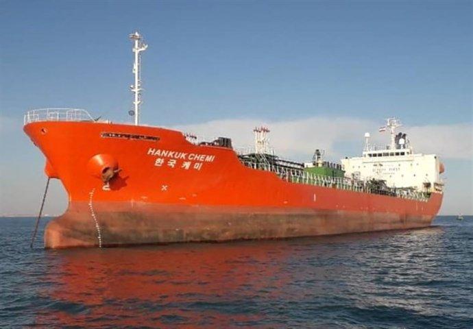 """""""Zadržení tankeru bylo ekonomické rozhodnutí, abychom Jižní Koreu přinutili rozmrazit miliardy dolarů našich peněz."""" Foto:IRGC/WANA via Reuters"""
