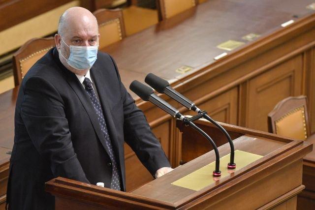 Ministr zemědělství Miroslav Toman hovoří 20.ledna 2021vPraze na schůzi Poslanecké sněmovny při projednávání kvót na české potraviny. Foto:ČTK