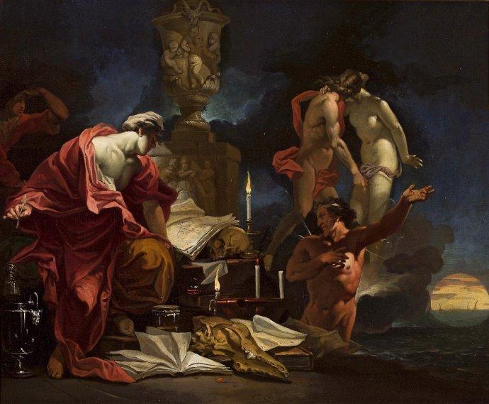Na malbě Domenica van Wijnen ze 17.století hledá astrolog znamení ve svých výpočtech imagických předmětech. Repro: Národní muzeum ve Varšavě