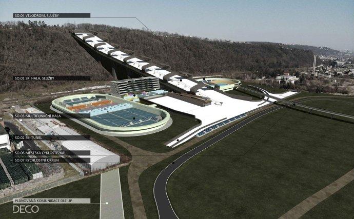 Vizualizace plánovaného areálu vChuchli. ZDROJ: Deco Project
