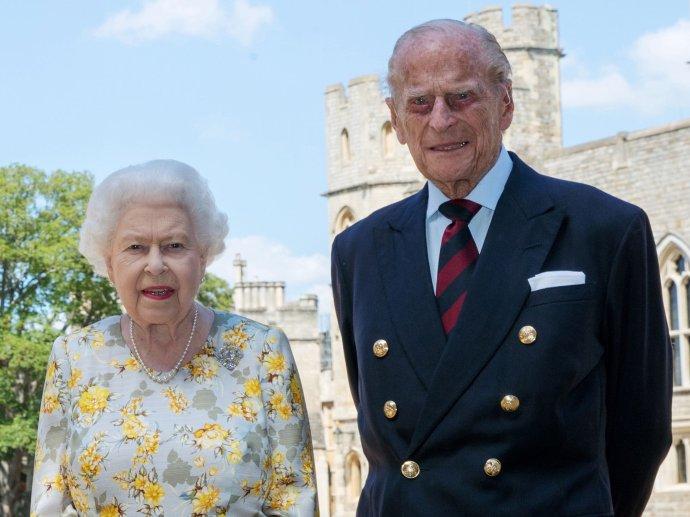 Britská královna AlžbětaII. aprinc Philip, vévoda zEdinburghu včervnu 2020. Foto:Buckingham Palace