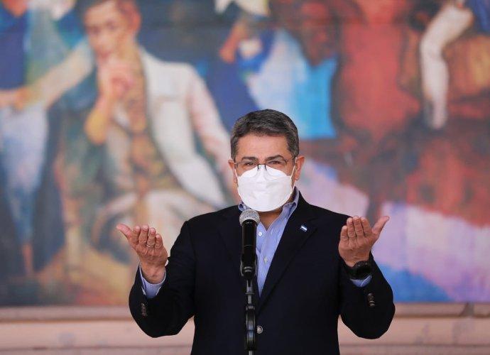 Honduraský prezident Juan Orlando Hernández. Foto:prezidentův oficiální twitterový účet JuanOrlandoH