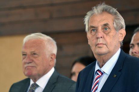 Prezident Miloš Zeman aexprezident Václav Klaus. Ilustrační foto:ČTK