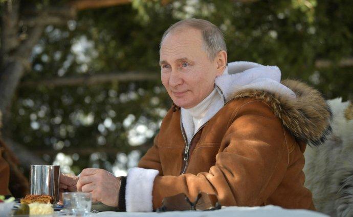 Ruský prezident Putin při cestě na Sibiř. 21. března 2021. Foto: kremlin.ru